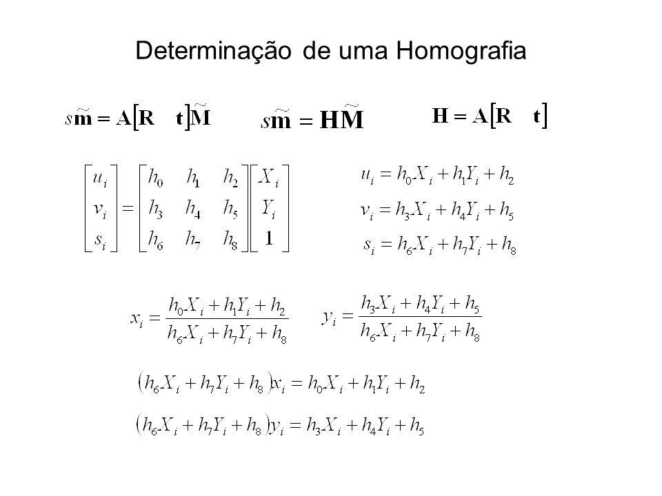 Determinação de uma Homografia