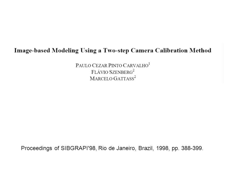 Proceedings of SIBGRAPI 98, Rio de Janeiro, Brazil, 1998, pp. 388-399.