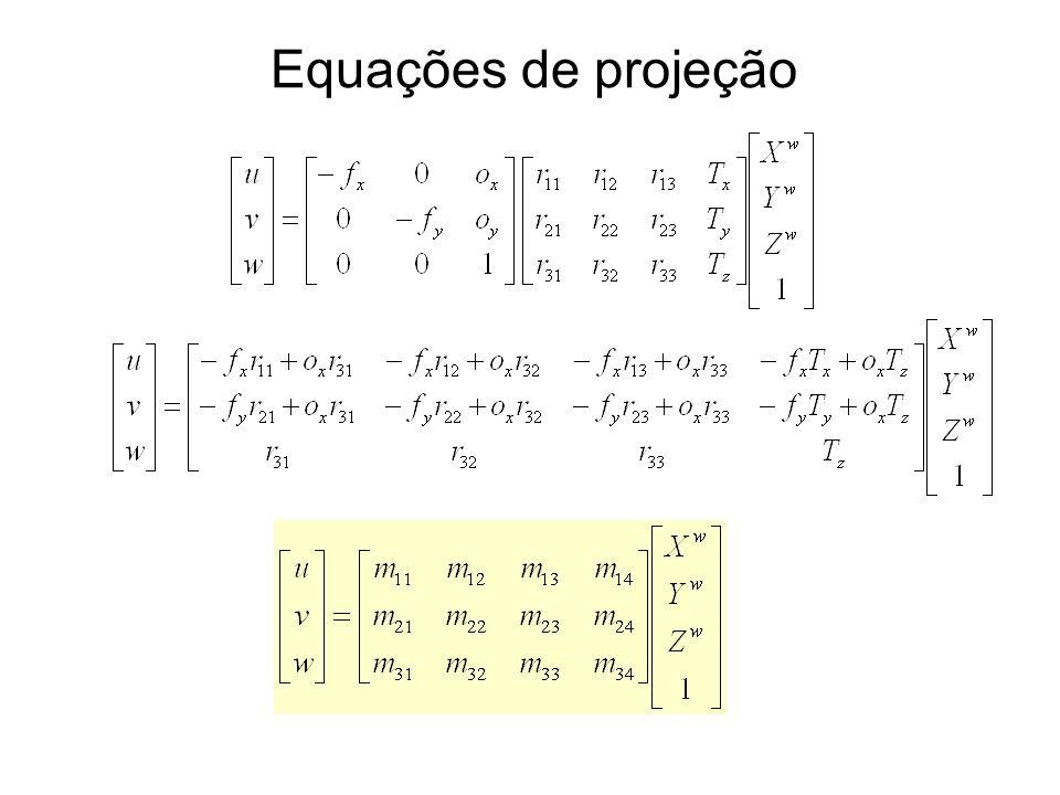 Equações de projeção