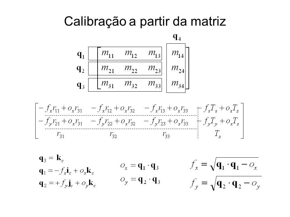 Calibração a partir da matriz