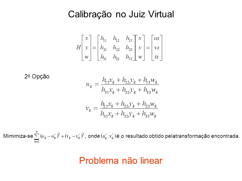 Calibração no Juiz Virtual