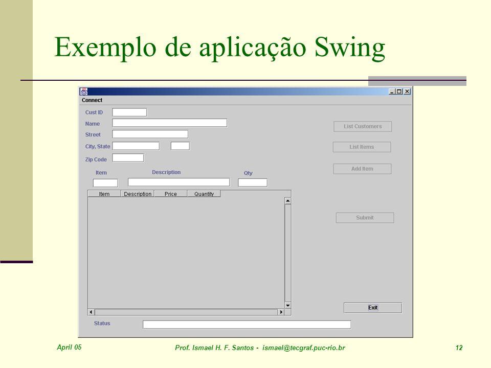 Exemplo de aplicação Swing