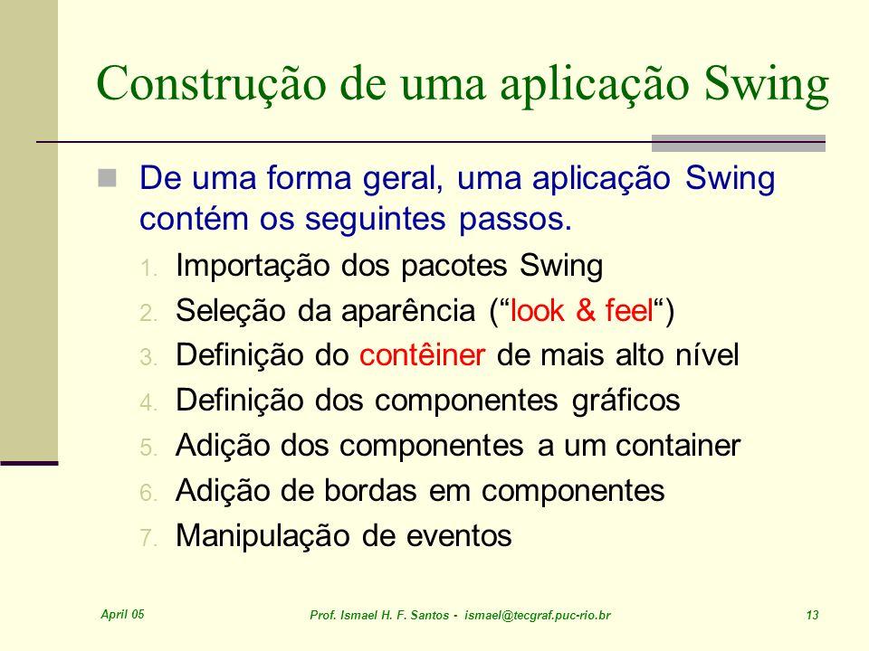 Construção de uma aplicação Swing