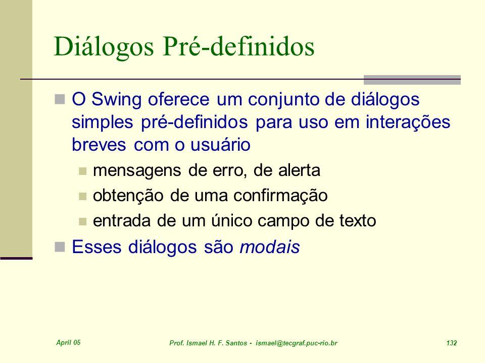 Diálogos Pré-definidos
