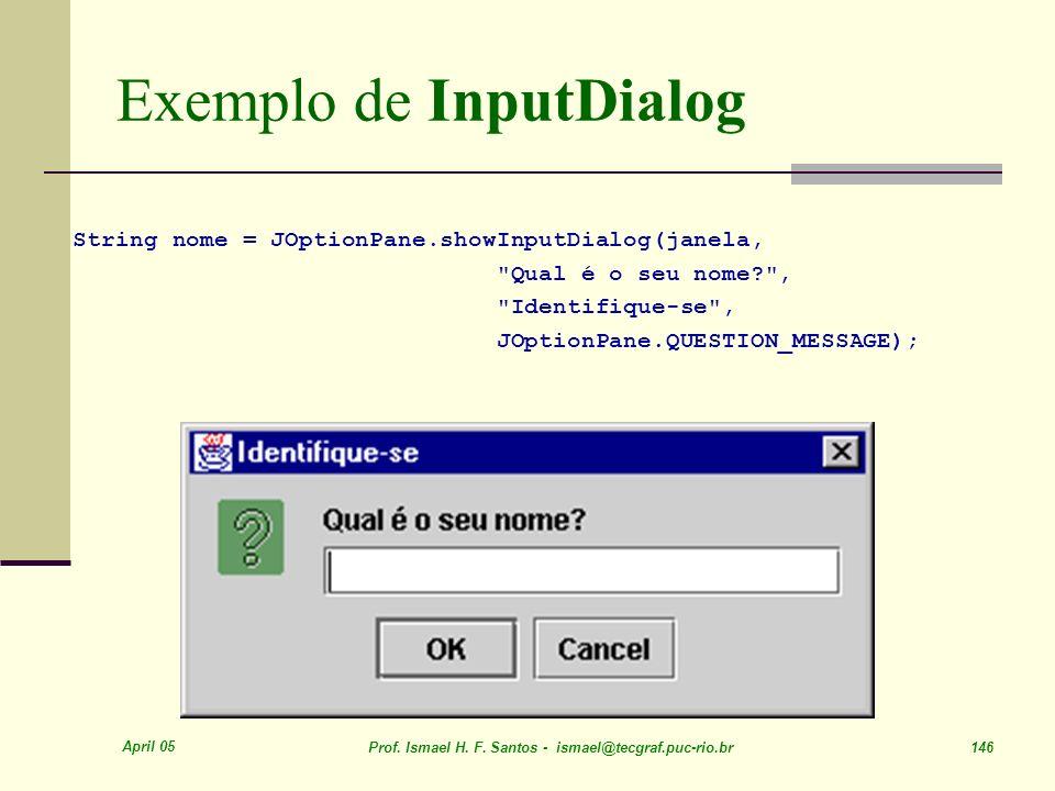 Exemplo de InputDialog