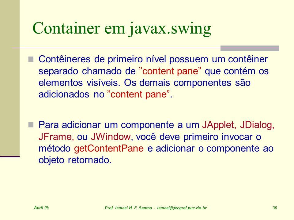 Container em javax.swing