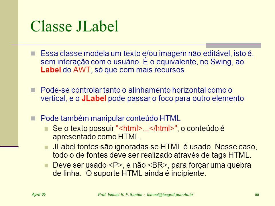 Classe JLabel