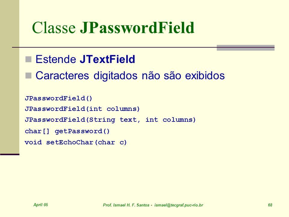 Classe JPasswordField