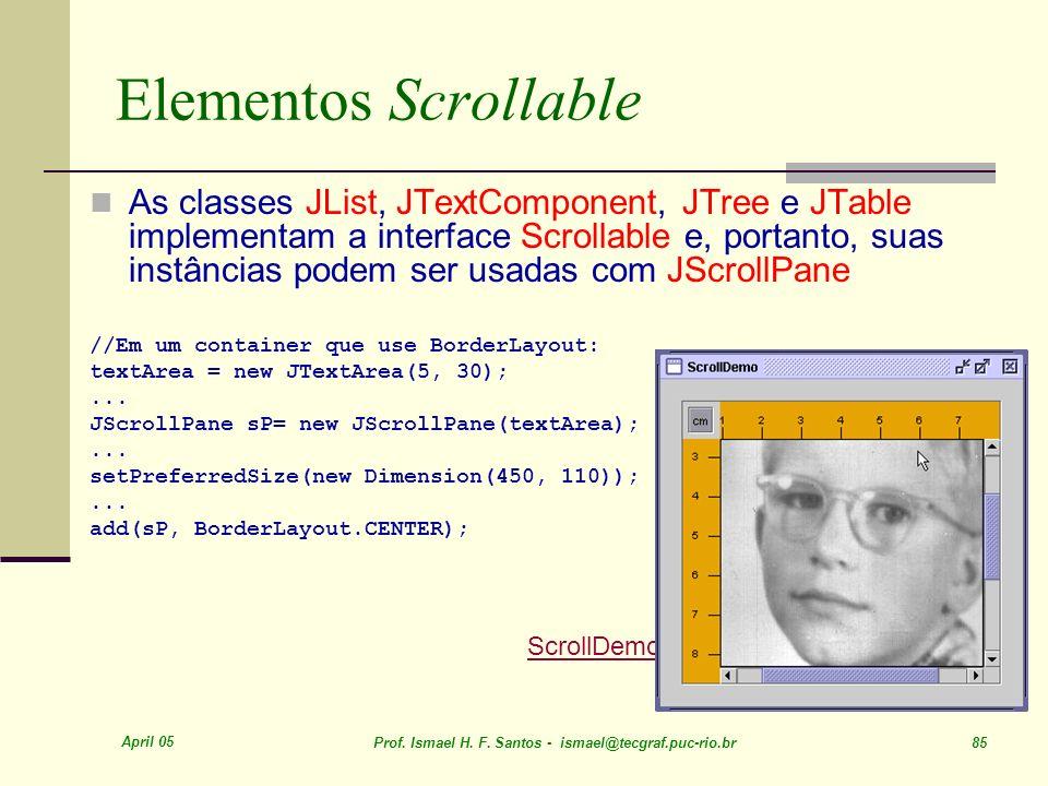 Elementos Scrollable