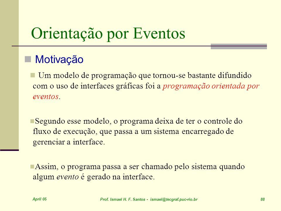 Orientação por Eventos