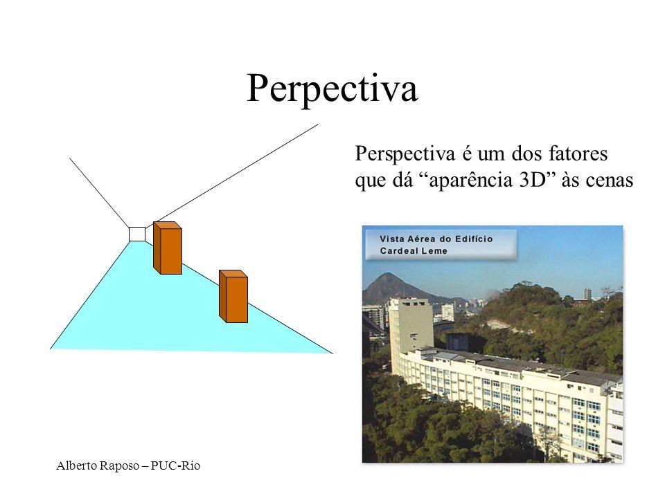 Perpectiva Perspectiva é um dos fatores que dá aparência 3D às cenas