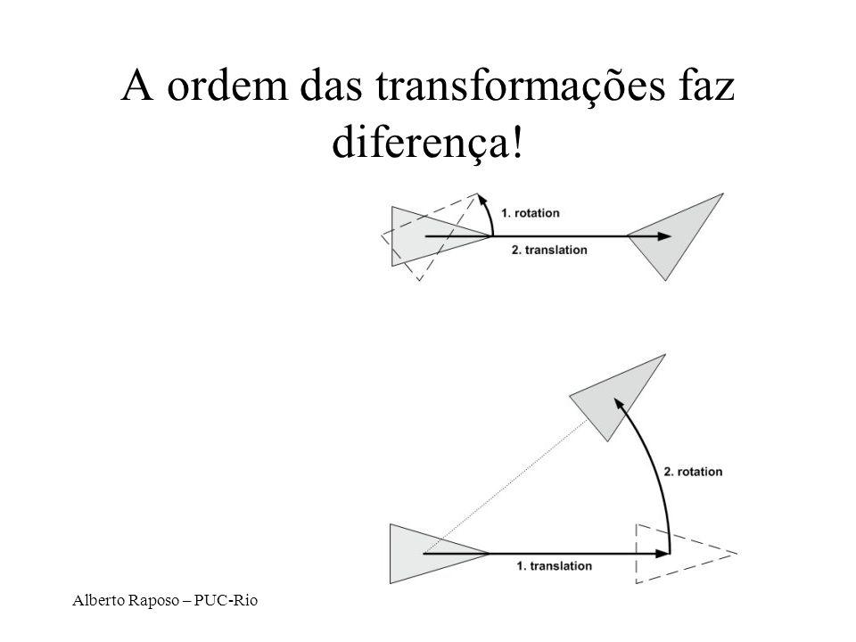 A ordem das transformações faz diferença!