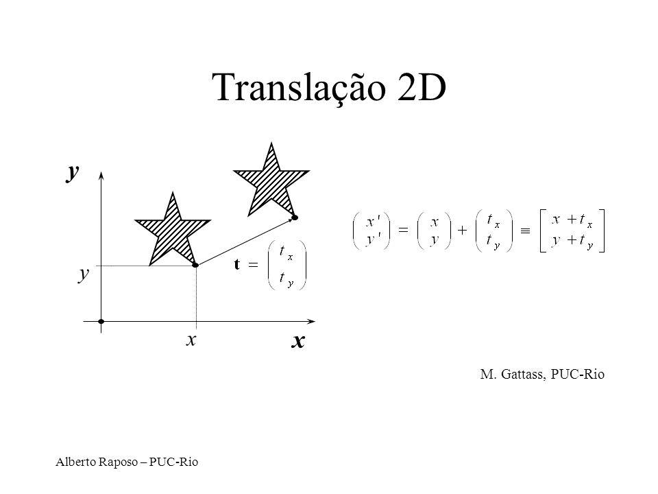 Translação 2D y y x x M. Gattass, PUC-Rio Alberto Raposo – PUC-Rio