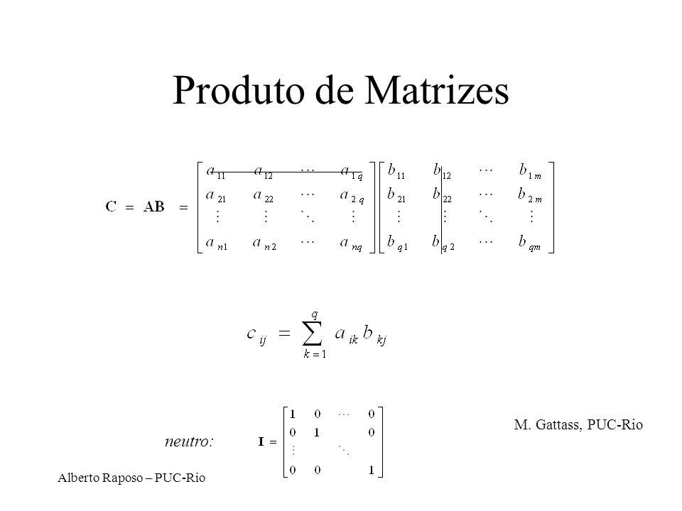 Produto de Matrizes neutro: M. Gattass, PUC-Rio