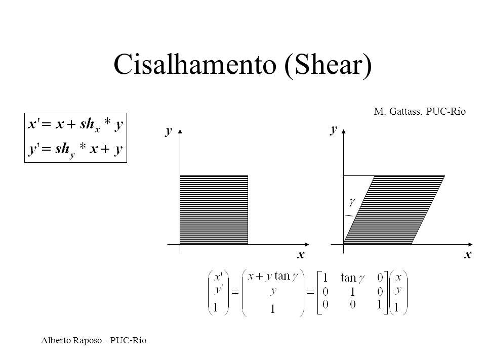 Cisalhamento (Shear) y y x x  M. Gattass, PUC-Rio