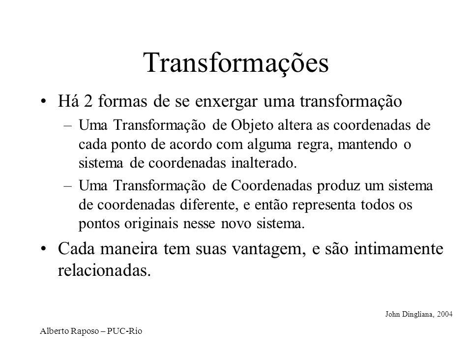 Transformações Há 2 formas de se enxergar uma transformação
