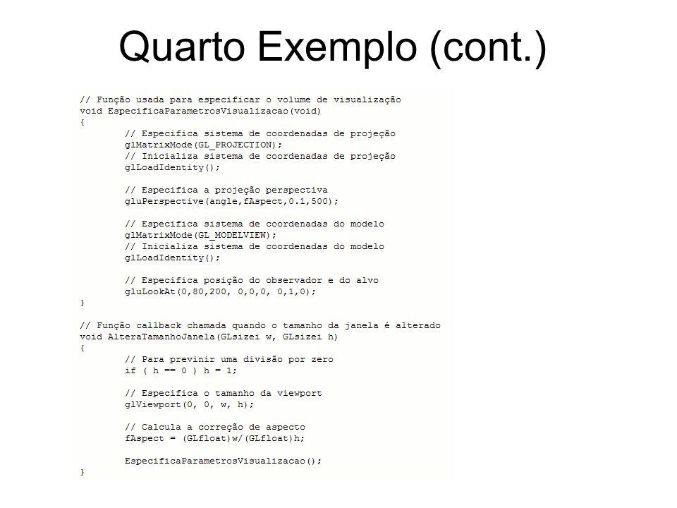 Quarto Exemplo (cont.)