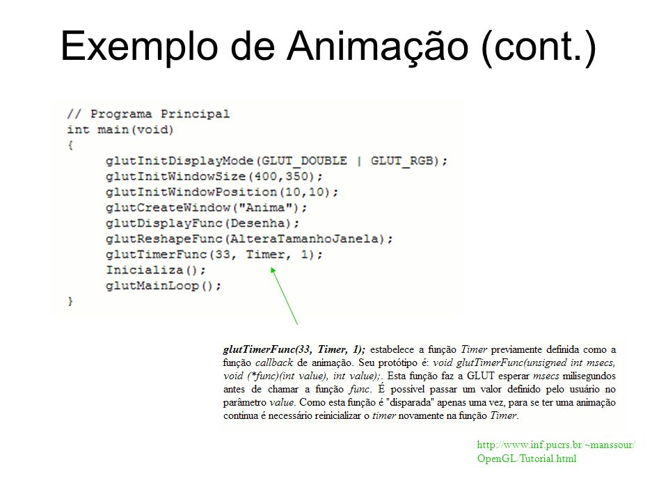 Exemplo de Animação (cont.)