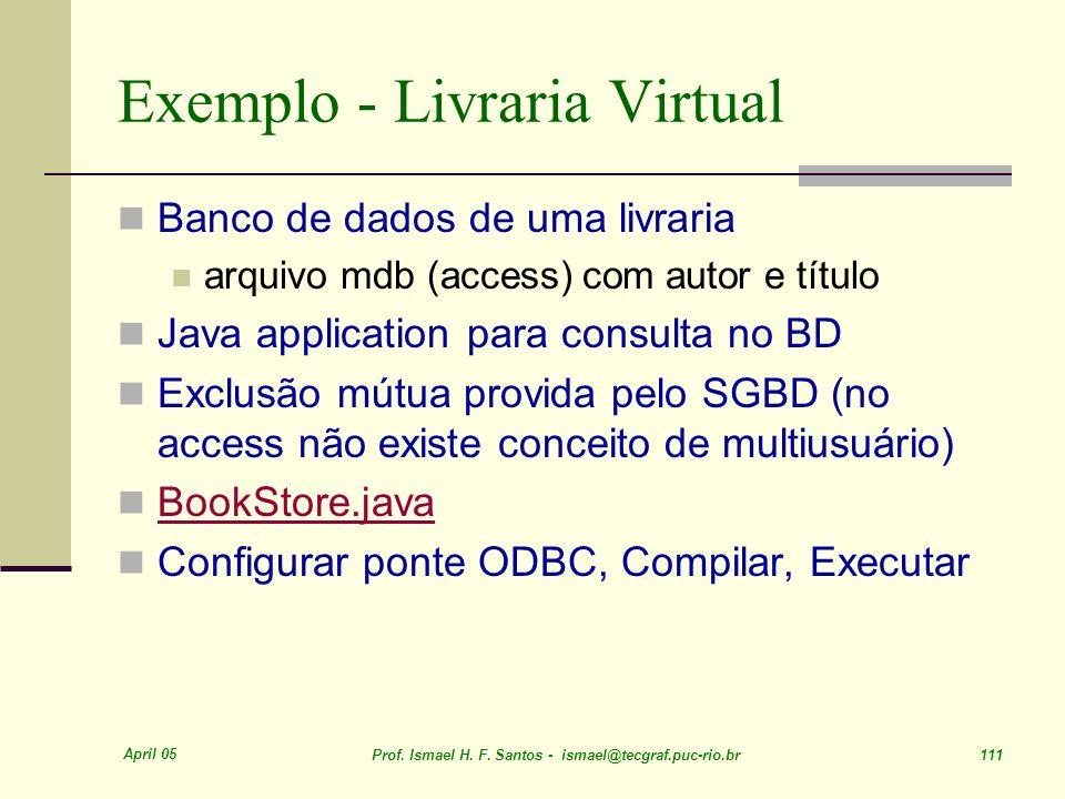 Exemplo - Livraria Virtual