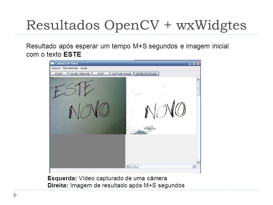 Resultados OpenCV + wxWidgtes