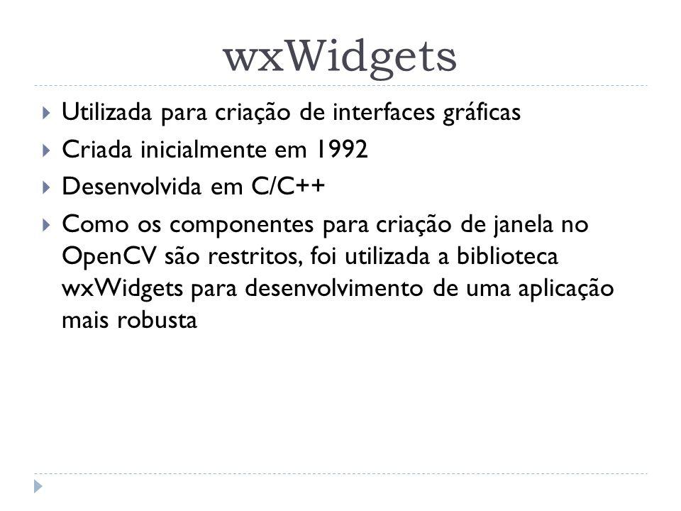 wxWidgets Utilizada para criação de interfaces gráficas