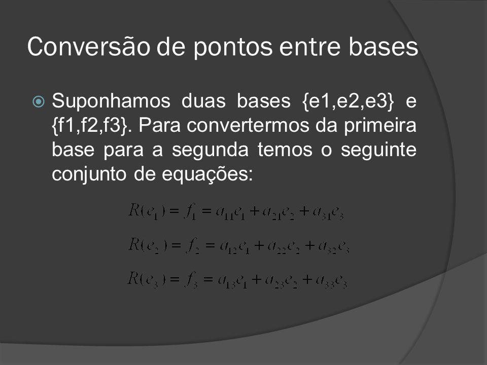 Conversão de pontos entre bases