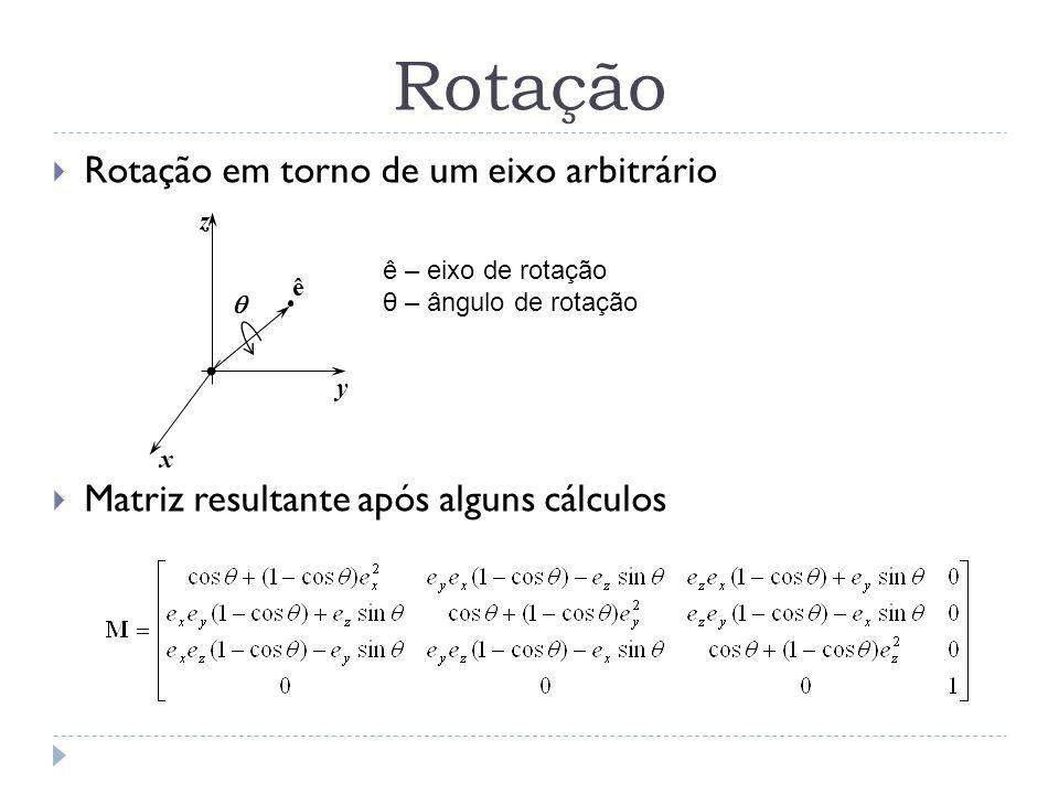 Rotação Rotação em torno de um eixo arbitrário