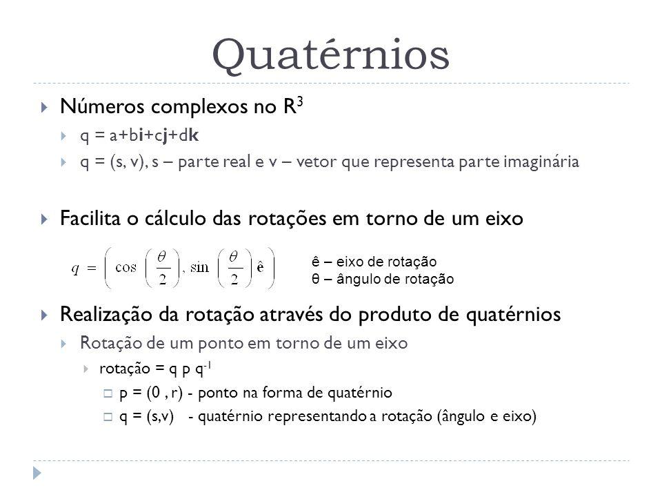 Quatérnios Números complexos no R3