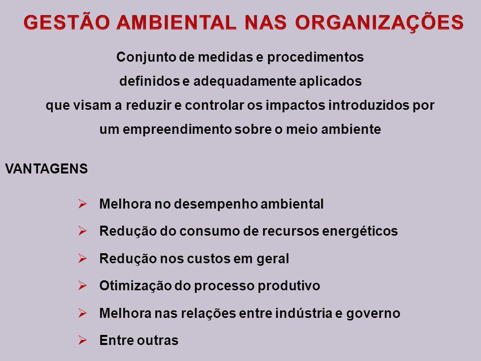 GESTÃO AMBIENTAL NAS ORGANIZAÇÕES