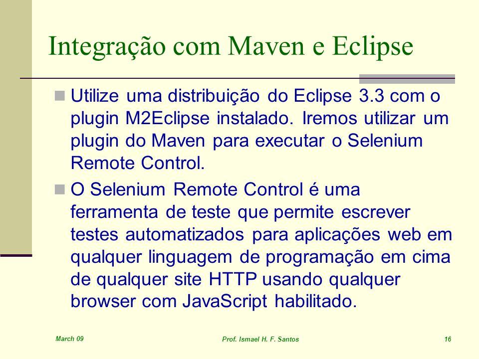 Integração com Maven e Eclipse