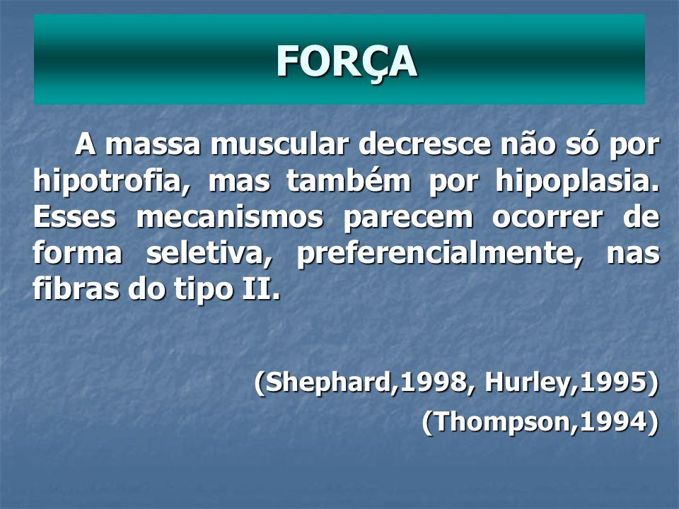 FORÇA (Shephard,1998, Hurley,1995)