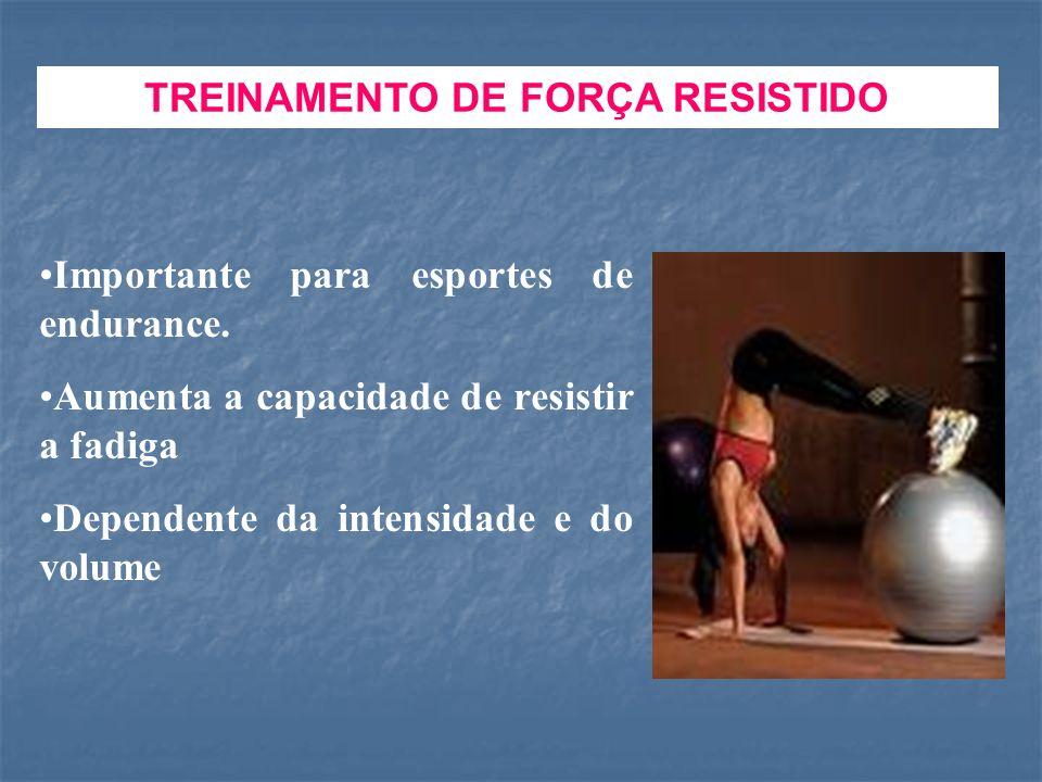 TREINAMENTO DE FORÇA RESISTIDO