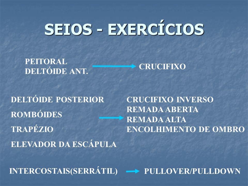 SEIOS - EXERCÍCIOS PEITORAL DELTÓIDE ANT. CRUCIFIXO DELTÓIDE POSTERIOR