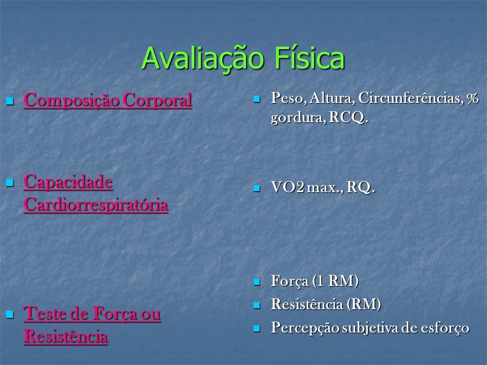 Avaliação Física Composição Corporal Capacidade Cardiorrespiratória