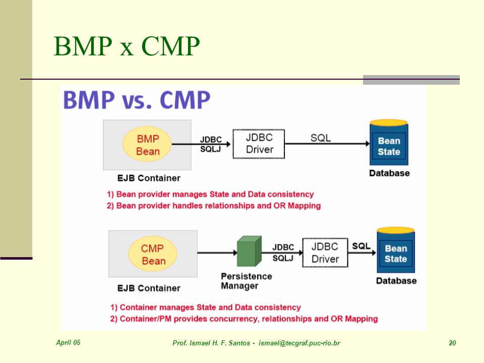 BMP x CMP April 05. Prof. Ismael H. F.