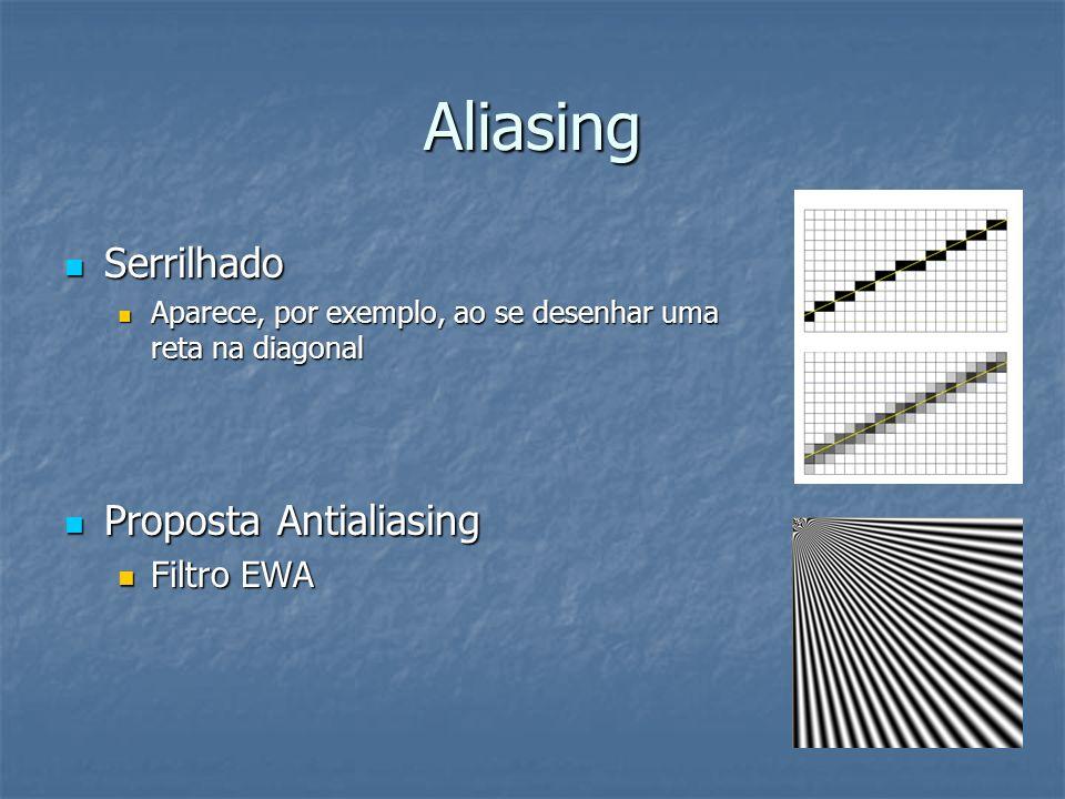 Aliasing Serrilhado Proposta Antialiasing Filtro EWA