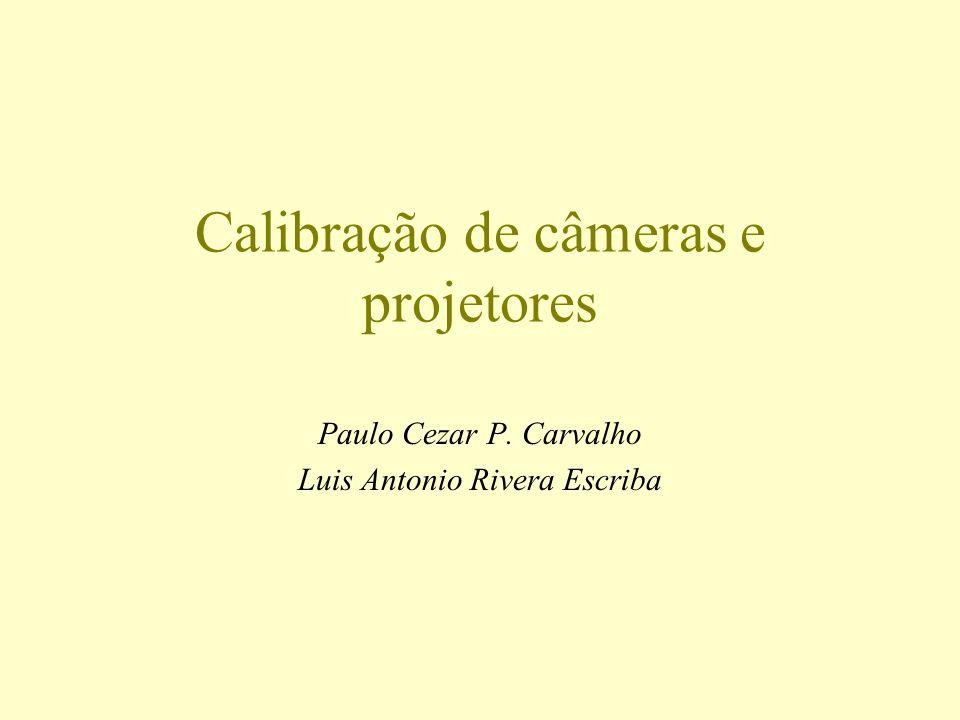 Calibração de câmeras e projetores