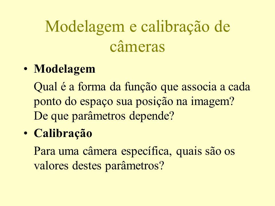 Modelagem e calibração de câmeras