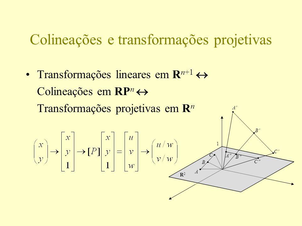 Colineações e transformações projetivas
