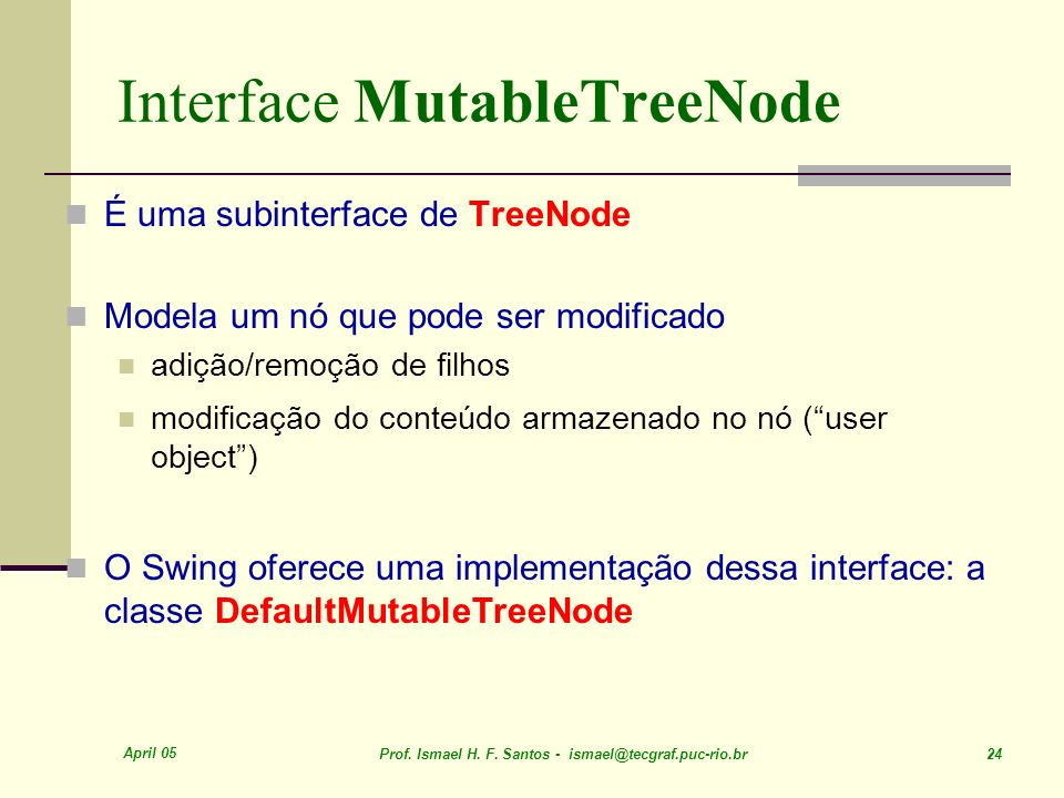 Interface MutableTreeNode
