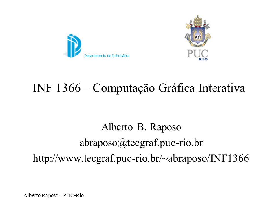 INF 1366 – Computação Gráfica Interativa