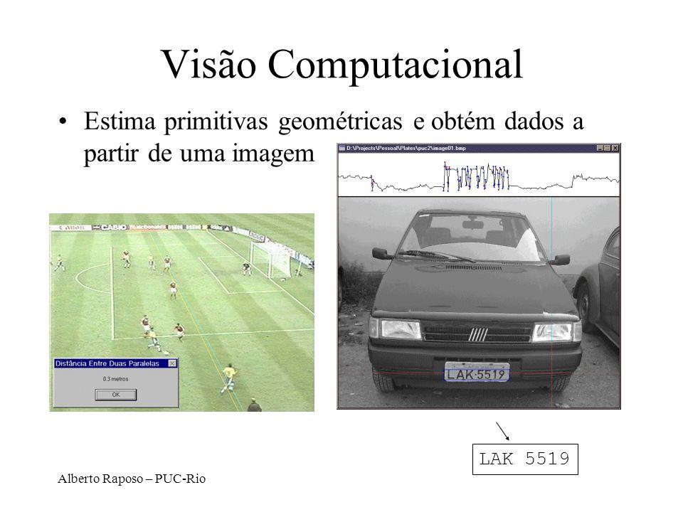 Visão Computacional Estima primitivas geométricas e obtém dados a partir de uma imagem.