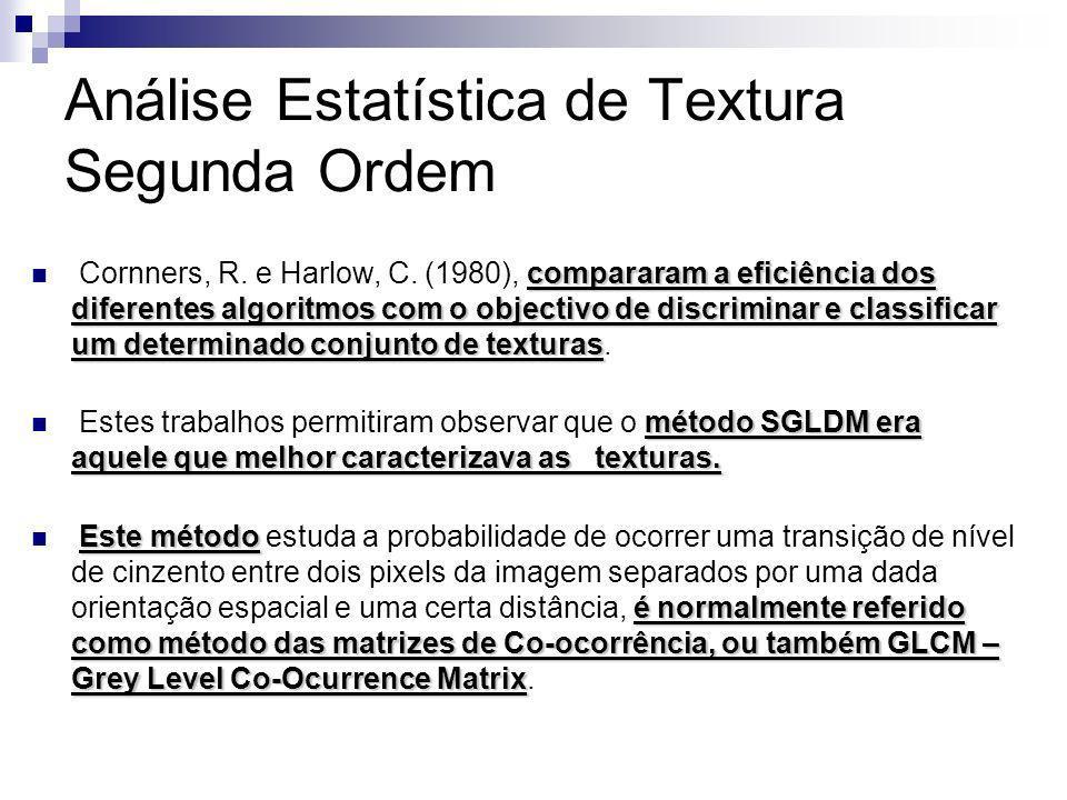 Análise Estatística de Textura Segunda Ordem