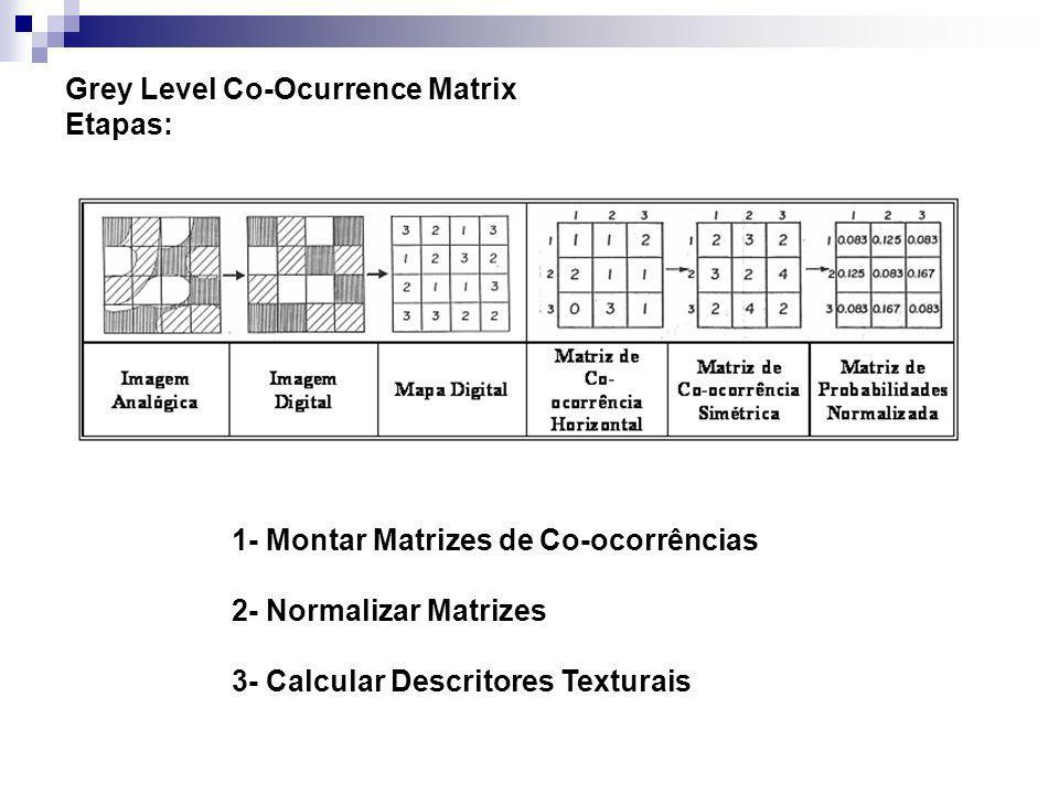 Grey Level Co-Ocurrence Matrix Etapas: