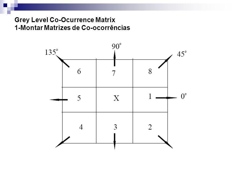 Grey Level Co-Ocurrence Matrix 1-Montar Matrizes de Co-ocorrências