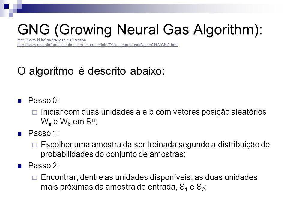 GNG (Growing Neural Gas Algorithm): http://www. ki. inf. tu-dresden