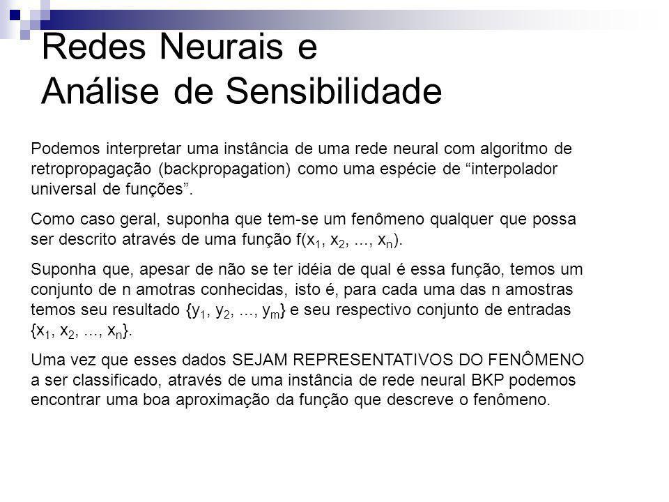 Redes Neurais e Análise de Sensibilidade