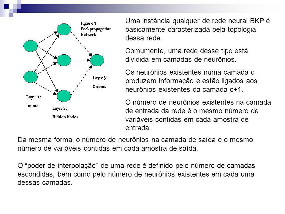 Uma instância qualquer de rede neural BKP é basicamente caracterizada pela topologia dessa rede.