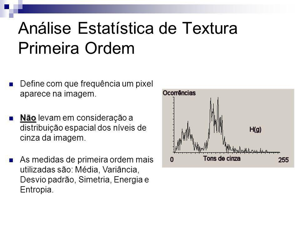 Análise Estatística de Textura Primeira Ordem