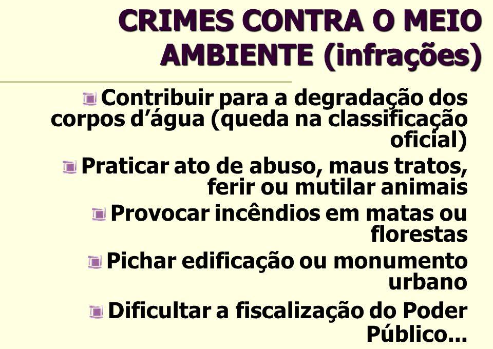 CRIMES CONTRA O MEIO AMBIENTE (infrações)
